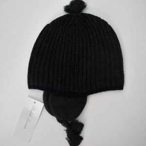 Ralph Lauren Ribbed Merino Wool Earflap Winter Hat